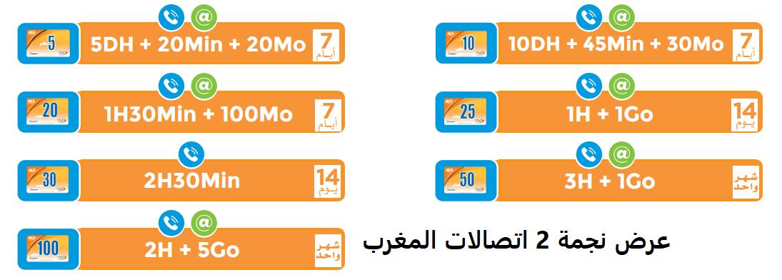 عرض نجمة 2 اتصالات المغرب